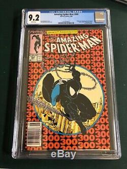Amazing Spider-Man #300 (1988, Marvel) CGC 9.2 White Pages Newsstand 1st Venom