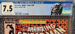 Amazing Spider-Man #300 CGC 7.5Origin+1st Full Venom! KILLER COPPER KEY