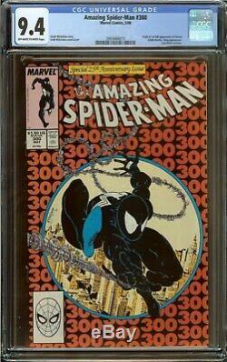 Amazing Spider-Man #300 CGC 9.4, Origin & 1st app. Of Venom Todd McFarlane 1988