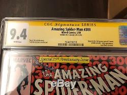 Amazing Spider-Man #300 CGC 9.4 SS (1988) Singed SS STAN LEE 1ST APP VENOM