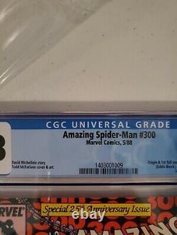Amazing Spider-Man #300 CGC 9.8 1988 0106693020 1st full app. Venom