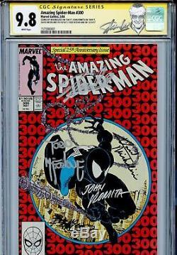 Amazing Spider-Man 300 CGC 9.8 SS Stan Lee Todd McFarlane 1st Venom 298 299 WP