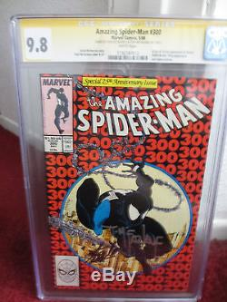 Amazing Spider-Man #300 cgc 9.8 WP ss signed Lee/McFarlane (May 1988, Marvel)