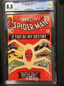 Amazing Spider-Man #31 CGC 8.5 Just Graded / Beautiful Color / Rare High Grade