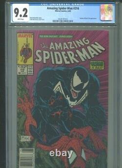 Amazing Spider-Man #316 CGC 9.2 (1989) Newsstand McFarlane 1st Full Venom Cover