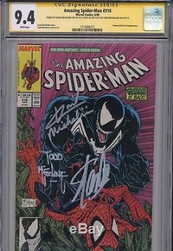 Amazing Spider-Man 316 CGC 9.4 SS Venom Todd McFarlane Stan Lee Michelinie 300