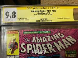 Amazing Spider-Man #316 CGC 9.8 SS Signed by Todd McFarlane KEY 1st Venom Cover