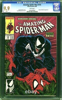 Amazing Spider-Man 316 CGC 9.9 MINT WP 1ST Full VENOM COVER Todd McFarlane RARE