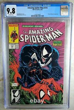 Amazing Spider-Man #316 Venom Marvel 1989 CGC 9.8 NM/MT Off-White P Comic Q0137