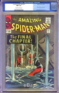 Amazing Spider-Man #33 CGC 9.6 NM+ CGC #0105653018