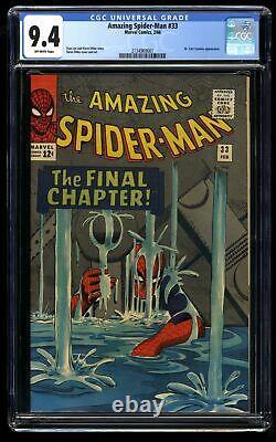 Amazing Spider-Man #33 CGC NM 9.4 Classic Cover! Marvel Comics Spiderman