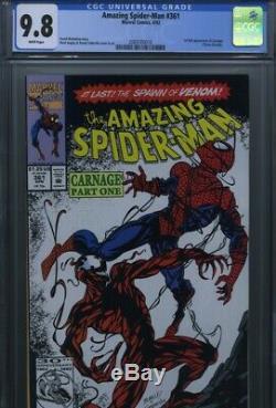 Amazing Spider-Man #361 CGC 9.8 1st App. Of Carnage