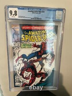 Amazing Spider-Man #361 CGC 9.8 White Pages 1st Appearance Carnage First Print