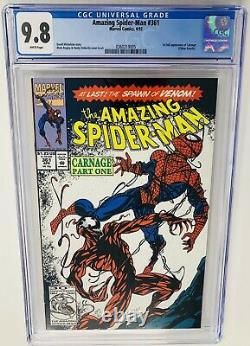 Amazing Spider-Man #361 CGC 9.8 White Pages 1st Appearance of Carnage Venom 2