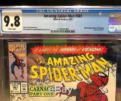 Amazing Spider-Man #361 cgc 9.8 1st Carnage