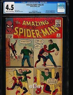 Amazing Spider-Man # 4 1st Sandman CGC 4.5 CREAM/OW Pgs
