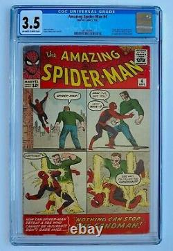Amazing Spider-Man #4 CGC 3.5 Origin 1st Sandman Marvel Comics