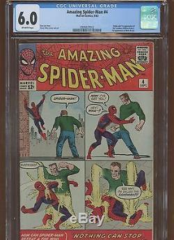 Amazing Spider-Man 4 CGC 6.0 FN MARVEL 1963 Origin & 1st Sandman & More