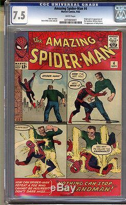 Amazing Spider-Man #4 CGC 7.5 VF- Universal CGC #0274824001