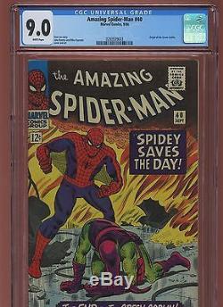 Amazing Spider-Man 40 CGC 9.0 VF/NM MARVEL 1966 Green Goblin Origin
