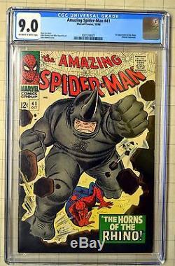 Amazing Spider-Man # 41 CGC 9.0 -OWithW FIRST RHINO! 3rd Romita