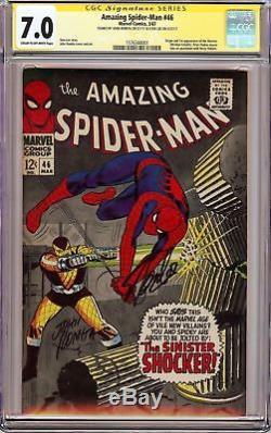 Amazing Spider-Man #46 CGC 7.0 SS X 2 Stan Lee & John Romita FIRST SHOCKER KEY