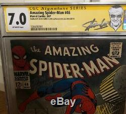 Amazing Spider-Man #46 CGC SS 7.0 SS Stan Lee & John Romita! 1st Shocker! (1967)