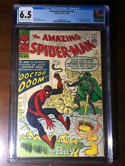 Amazing Spider-Man #5 (1963) 1st Doctor Doom Crossover! CGC 6.5! Key