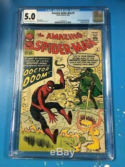 Amazing Spider-Man #5 1963 CGC 5.0 Off-White to White Pgs