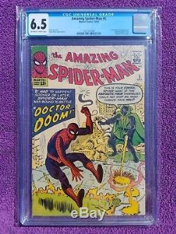 Amazing Spider-Man 5 CGC 6.5 OWithW Dr. Doom