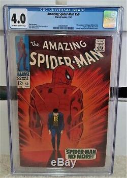 Amazing Spider-Man #50 (1967) CGC 4.0 1st App of Kingpin Marvel Comics KEY