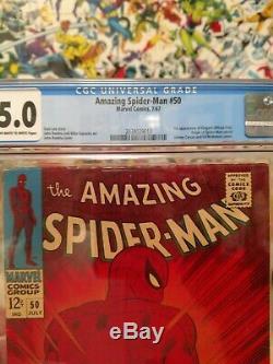 Amazing Spider-Man #50 1st Kingpin (Wilson Fisk) CGC 5.0 Origin Off White to W