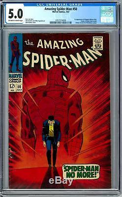 Amazing Spider-Man #50 CGC 5.0 (OW) 1st Appearance of Kingpin