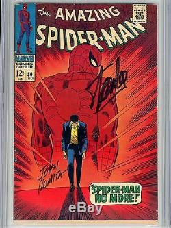 Amazing Spider-Man 50 CGC 7.0 SS 1st Kingpin Stan Lee John Romita Sr Origin OWithW
