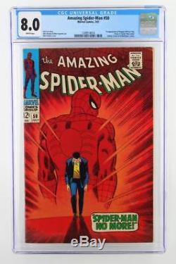 Amazing Spider-Man #50 CGC 8.0 VF Marvel 1967 1st App of The Kingpin
