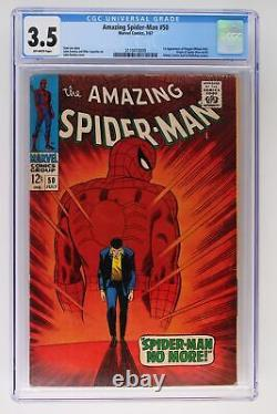 Amazing Spider-Man #50 Marvel 1967 CGC 3.5 1st Appearance of Kingpin