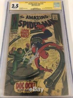 Amazing Spider-Man #53 CGC 2.5 SS Signed by STAN LEE