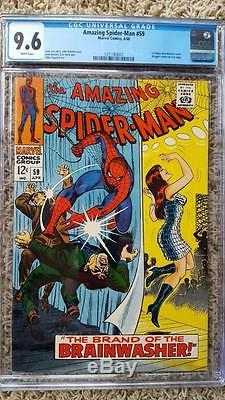 Amazing Spider-Man #59 CGC 9.6 NM+ WHITE Pages 1st MJ cover