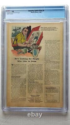 Amazing Spider-Man #6 CGC 4.0 VG 1st Appearance of the Lizard