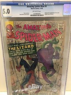 Amazing Spider-Man #6 CGC 5.0 1st App of the Lizard Stan Lee Steve Ditko