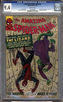 Amazing Spider-Man #6 CGC 9.4 NM Universal CGC #1054768001