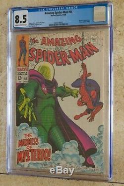 Amazing Spider-Man #66, CGC 8.5 (VF+) Mysterio. John Romita