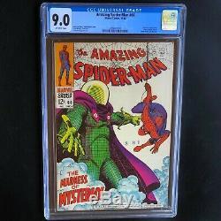 Amazing Spider-Man #66 CGC 9.0 VF / NM Classic Mysterio Cover! Marvel 1968