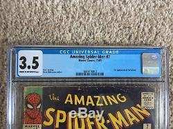 Amazing Spider-Man #7 CGC 3.5 2nd App. Of The Vulture Marvel Comics 1963