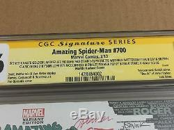 Amazing Spider-Man #700 Skyline Variant 45x Signed CGC 9.6! Stan Lee Romita Jr +