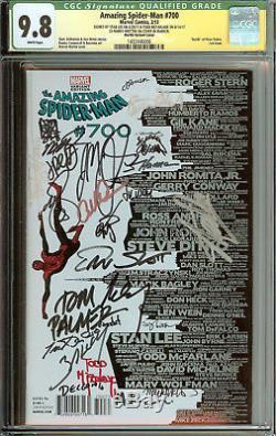 Amazing Spider-Man #700 Skyline Variant CGC 9.8 Stan Lee, McFarlane Signed 27x