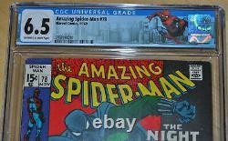 Amazing Spider-Man #78 CGC 6.5 (Origin & 1st App of the Prowler Hobie Brown)