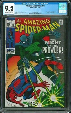Amazing Spider-Man 78 CGC 9.2 (First Appearance of Prowler)