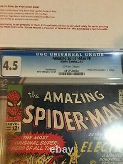 Amazing Spider-Man 9 1st App of Electro! Marvel Comics CGC 4.5