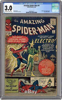 Amazing Spider-Man #9 CGC 3.0 1964 2085395017 1st app. Electro